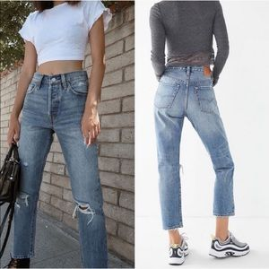 Levi's 501 original high rise straight leg jean